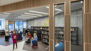 Damsgård skole bibliotek og kunstprosjekt av Patrik Entian