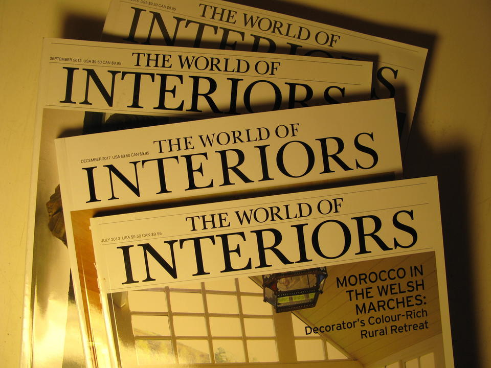 Sitter du på The World of Interiors, årgangene 2004-2018?