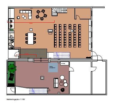 Lilandgården, møbleringsplan Tegning: Asplan Viak