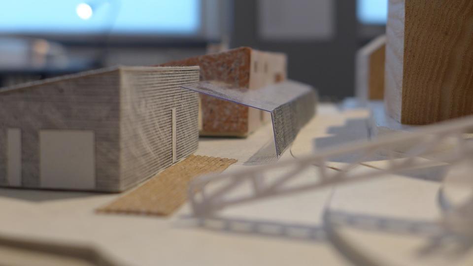 Bildet viser Sunniva Haugen Breidviks forslag til hvordan Maskinbygget kan bevares. Foto: Sunniva Haugen Breidvik