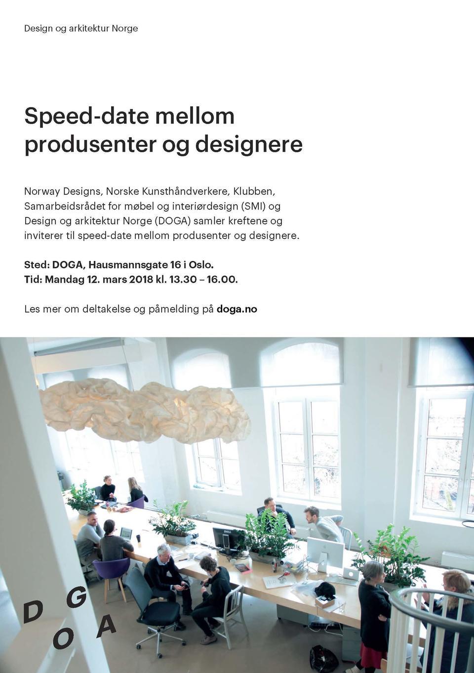 Speed-date mellom produsenter og designere