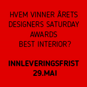 Designers' Saturday Oslo Awards 2019. Best Interior. Frist: 29. mai 2019.