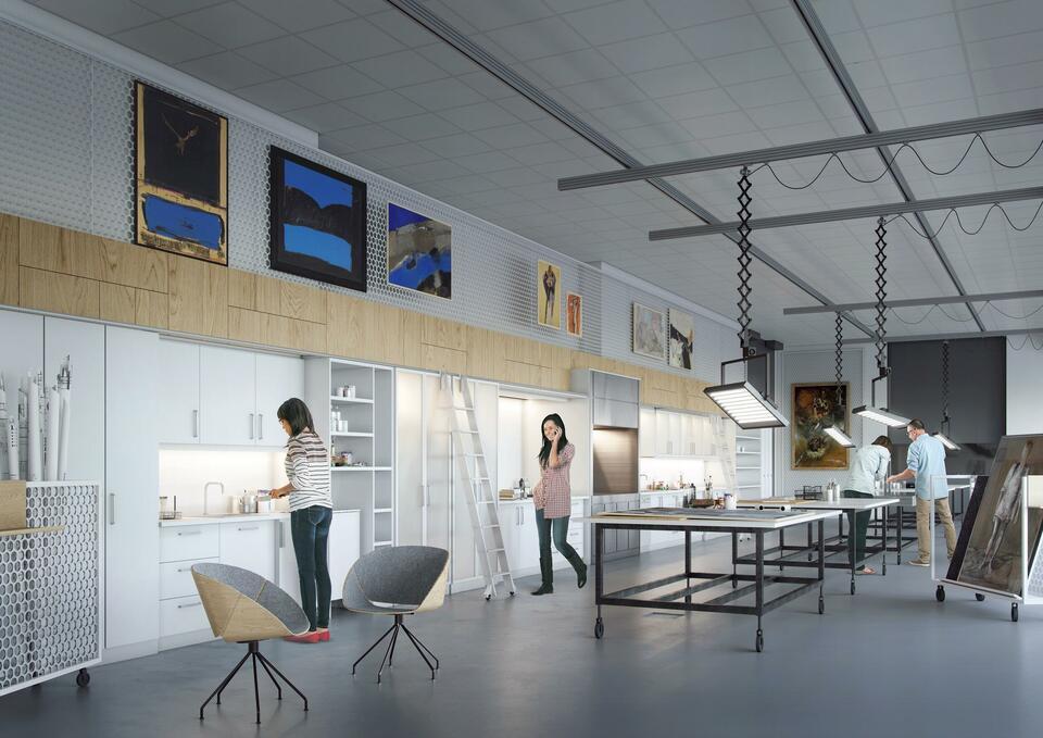 Innredningen av Nasjonalmuseet på Vestbanen